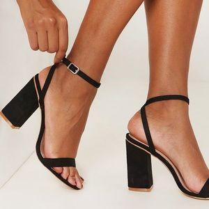 Cream Patent Ankle Strap Heel
